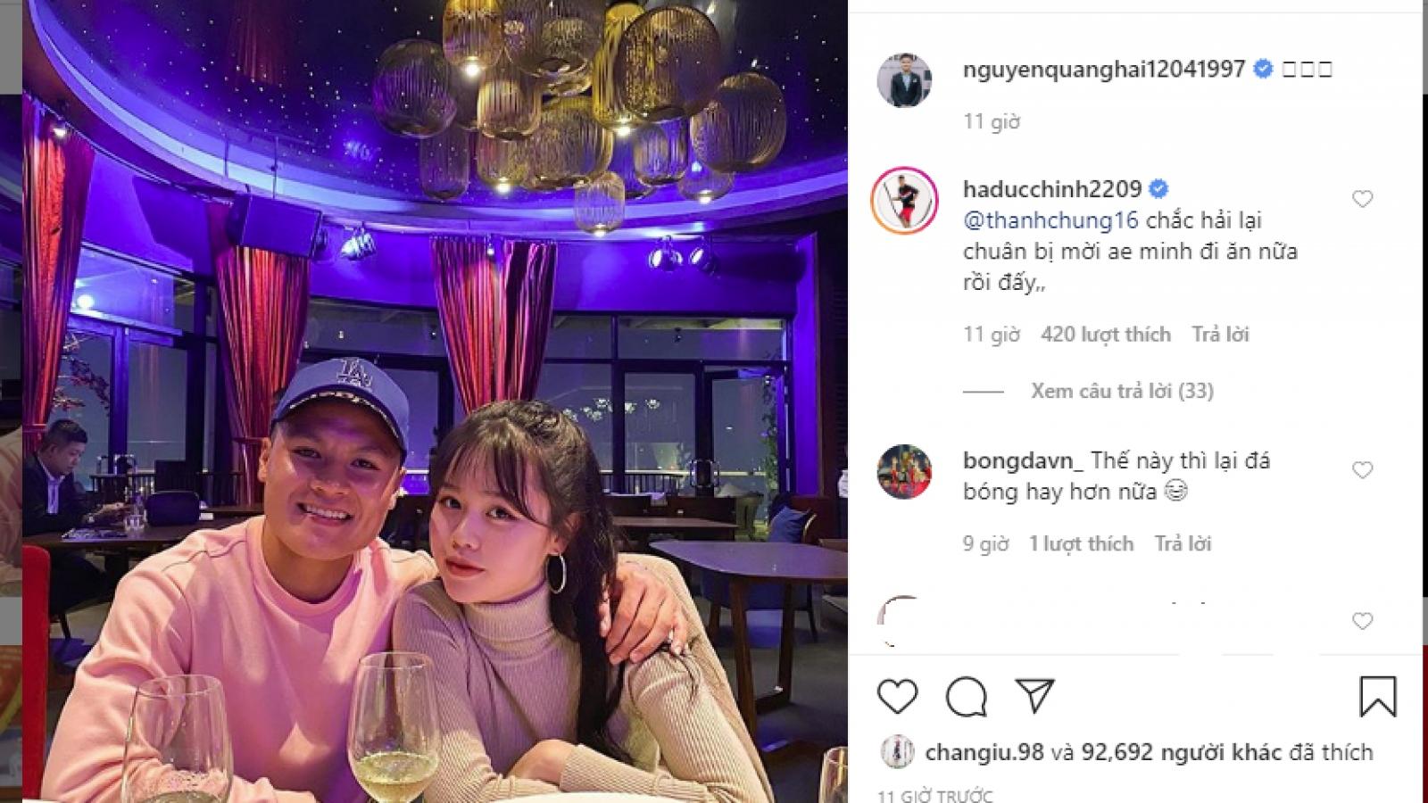 Quang Hải công khai bạn gái mới trên mạng xã hội