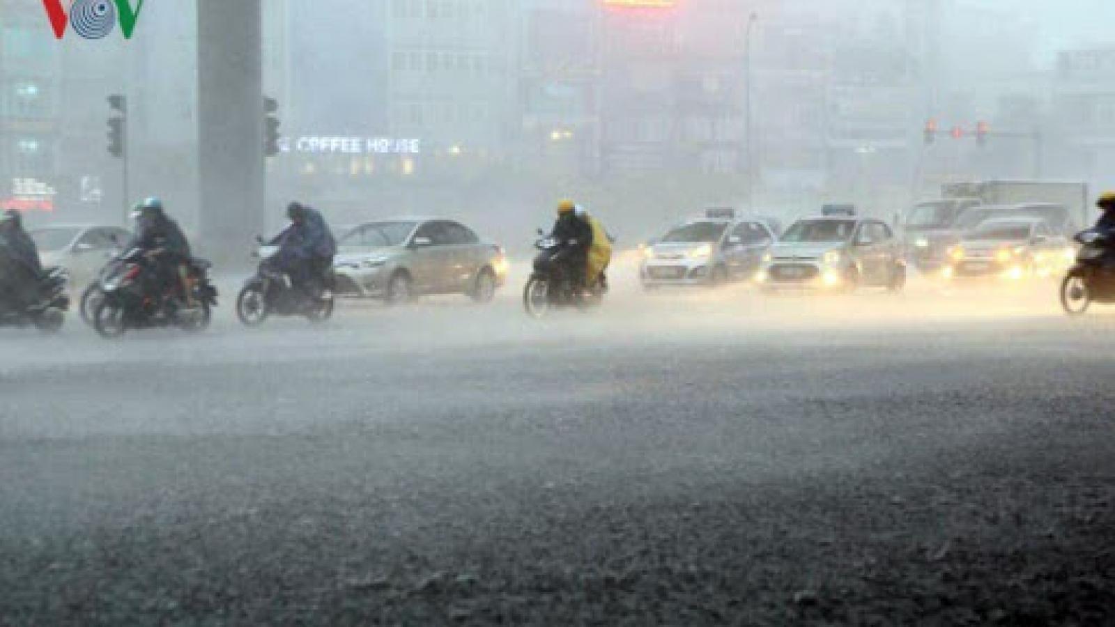 Thời tiết Hà Nội chiều tối nay sẽ có mưa dông cục bộ