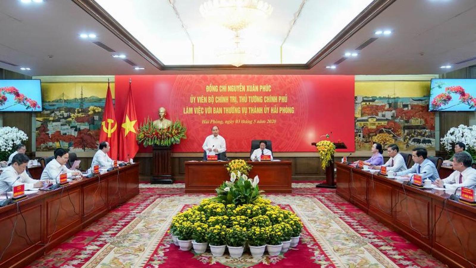 Thủ tướng: Hải Phòng mang trọng trách là cực tăng trưởng quan trọng