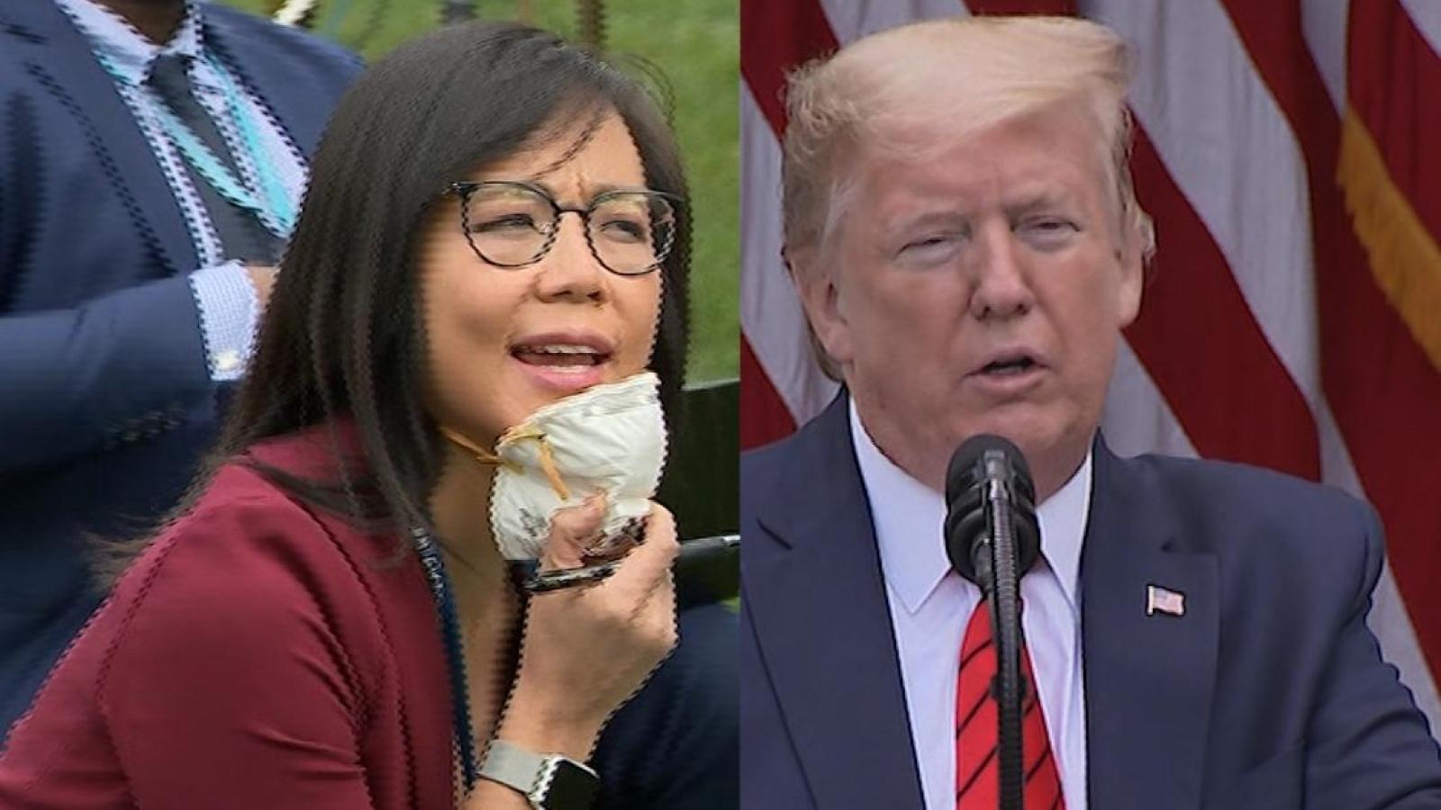 """Tổng thống Trump yêu cầu phóng viên đi """"hỏi Trung Quốc"""" về Covid-19"""