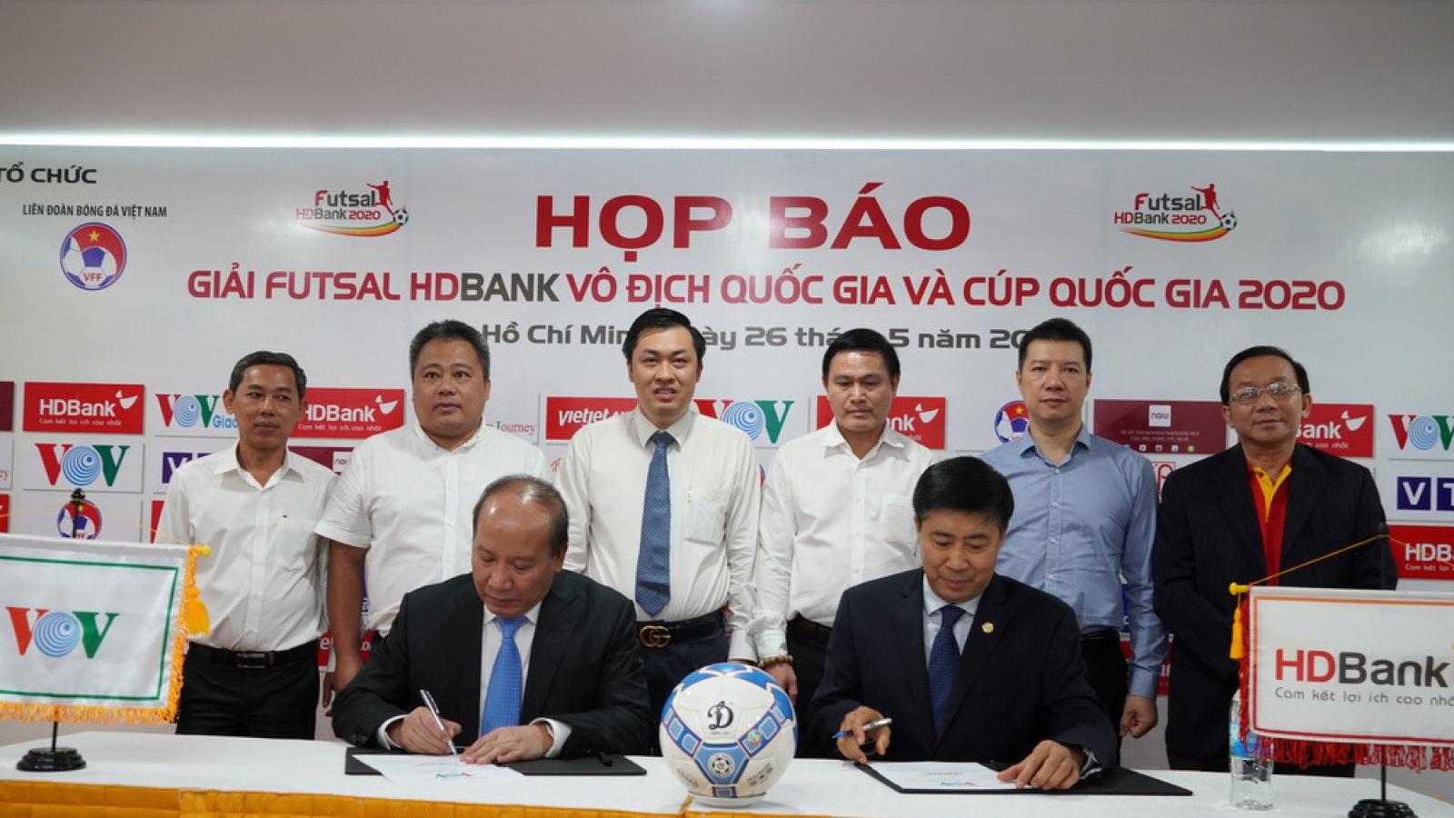 VOV, VFF và HD Bank tiếp tục đồng hành tại các giải Futsal QG 2020