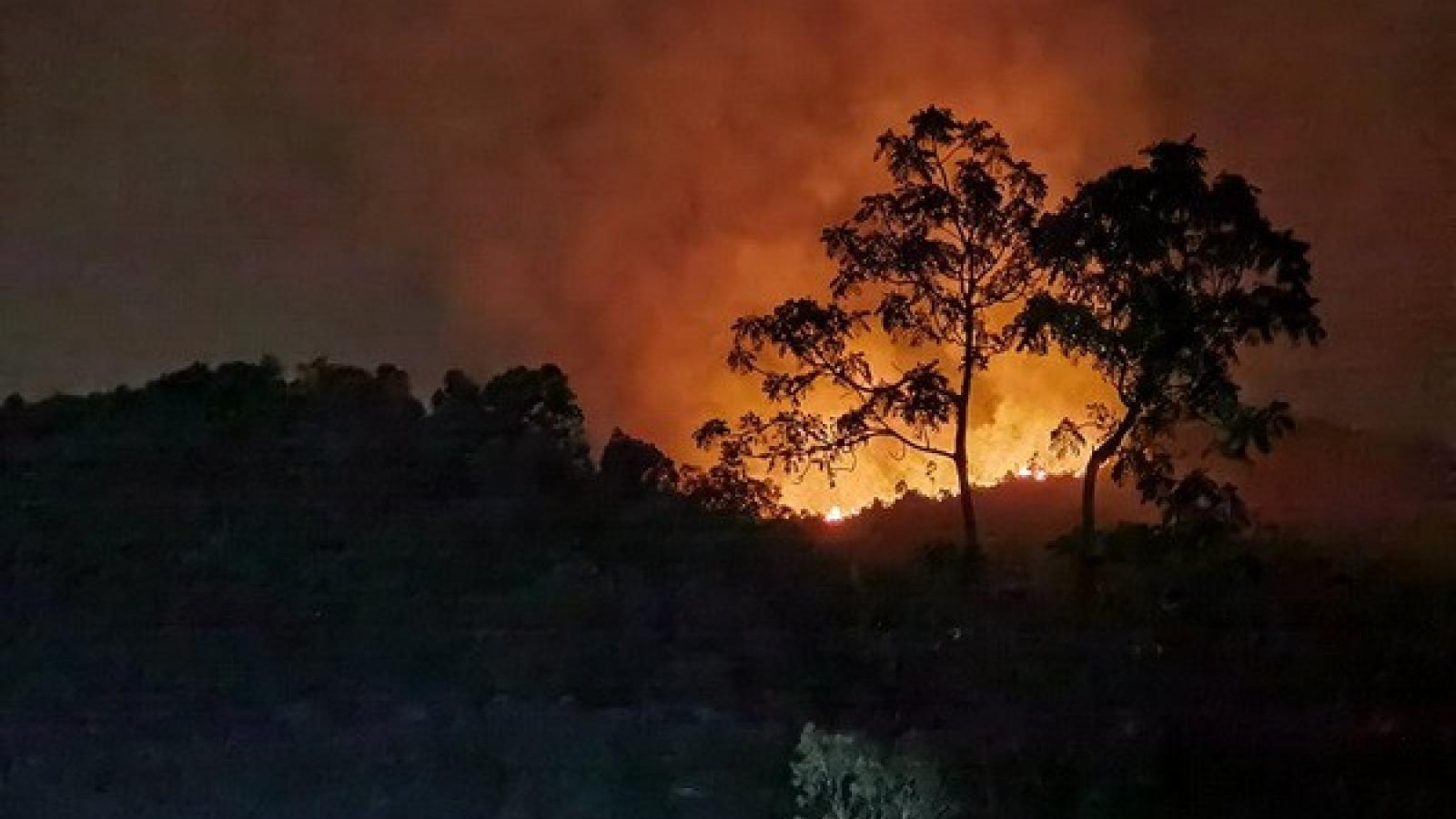 Vụ cháy rừng ở Đà Nẵng: Tiếp tục lan rộng, chưa thể khống chế