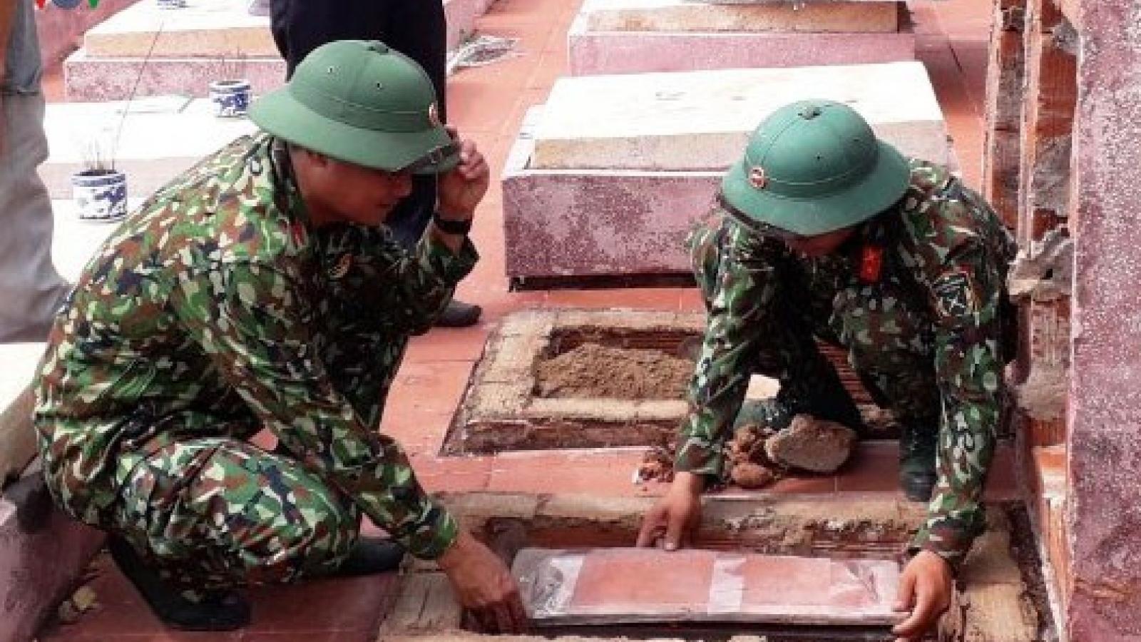 Quân đoàn 3 quy tập và bàn giao 4 bộ hài cốt liệt sỹ