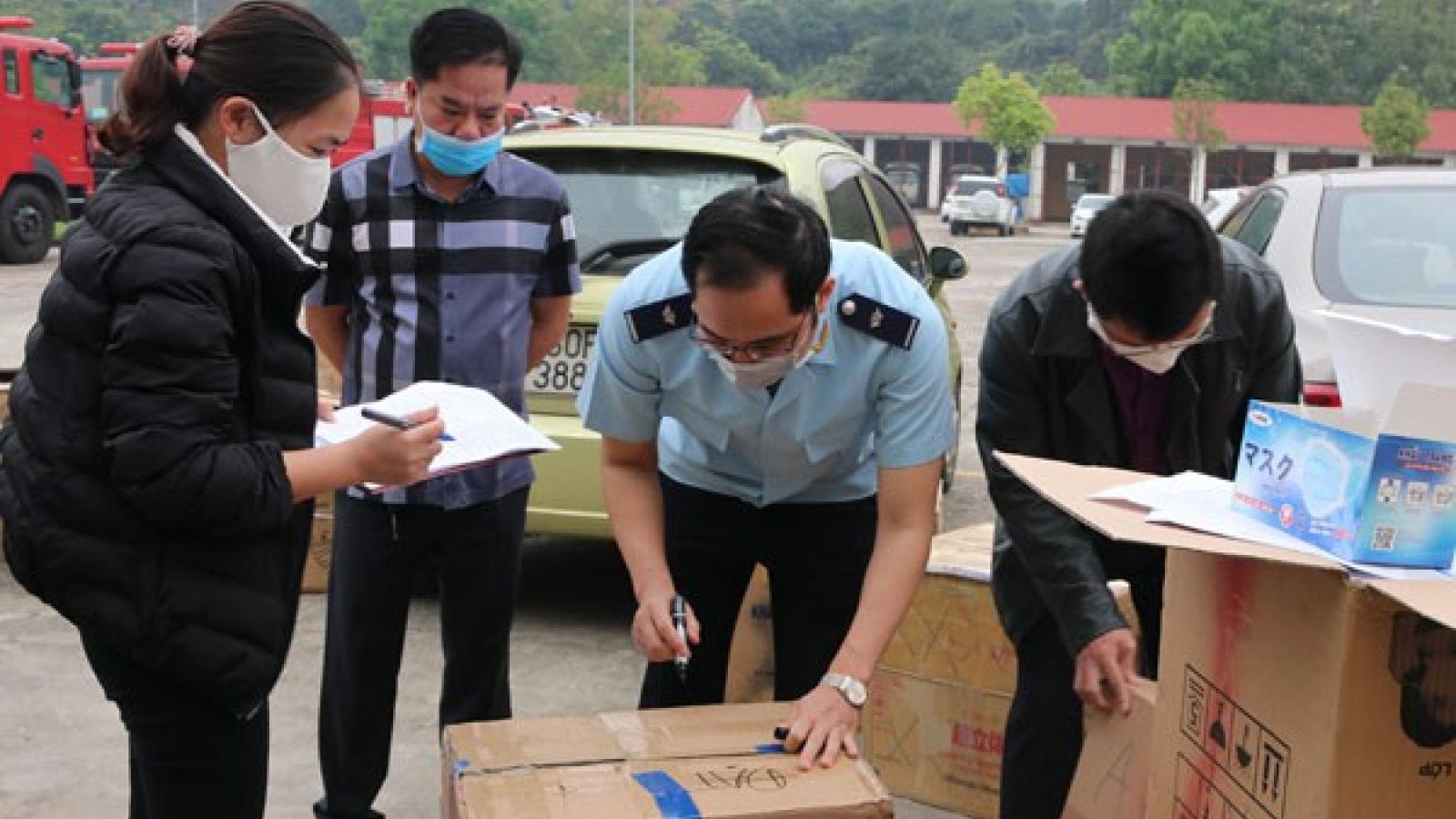 Chủ lô hàng tập kết 1 triệu khẩu trang ở cửa khẩu Lào Cai bị phạt