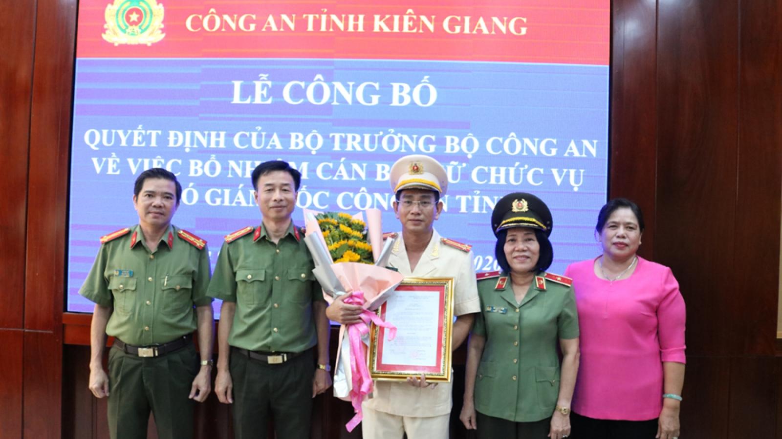 Bổ nhiệm Trưởng phòng Tổ chức cán bộ làm PGĐ Công an tỉnh Kiên Giang