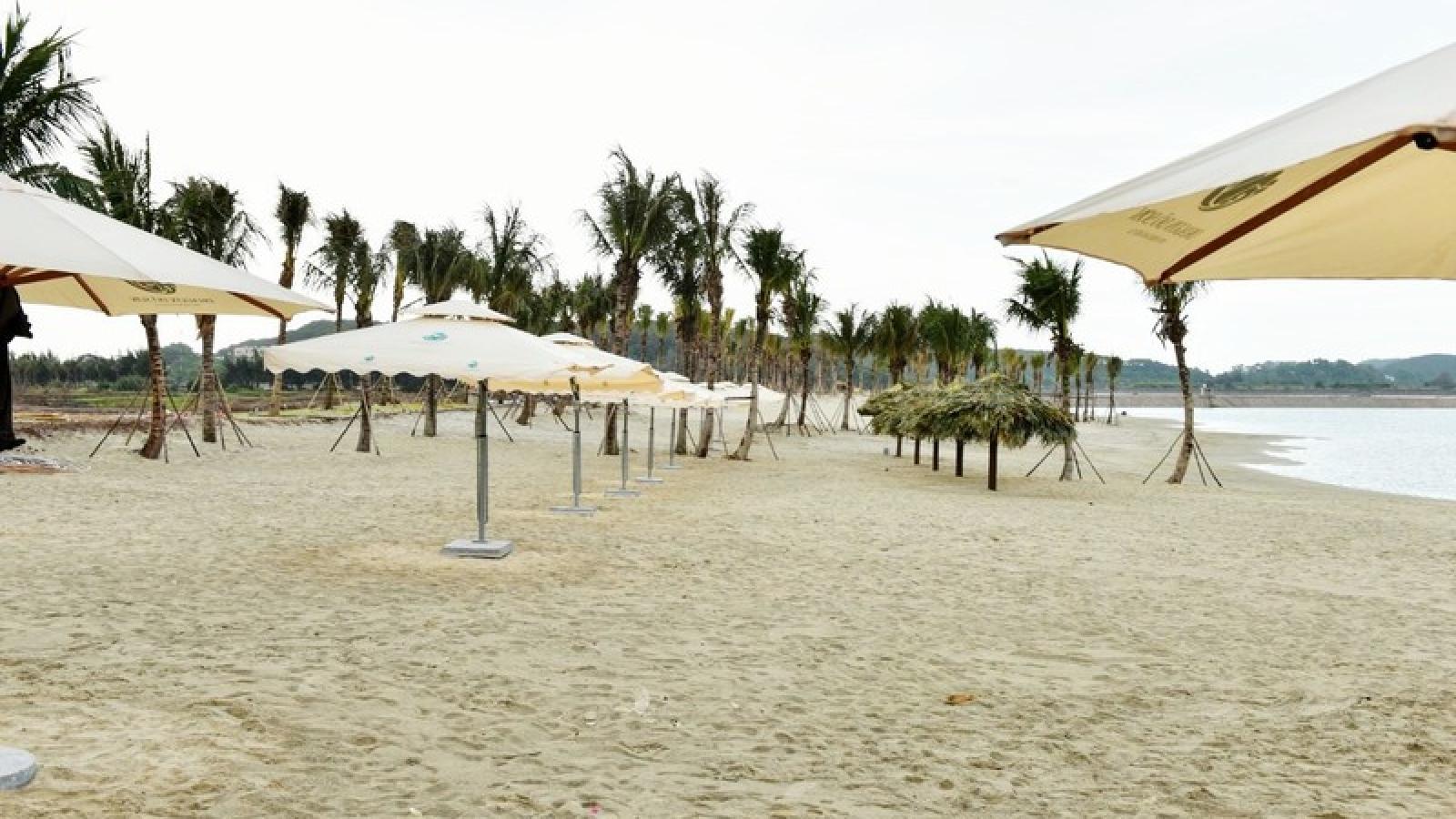Cận cảnh bãi tắm nhân tạo, resort và cáp treo Cát Hải...ở Hải Phòng