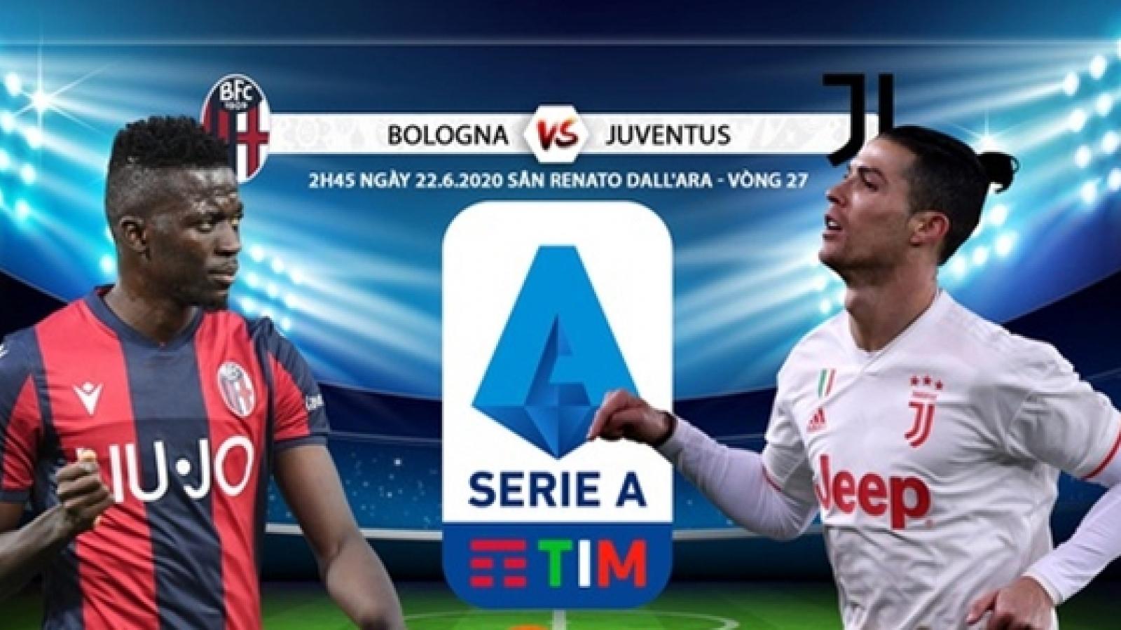 Đội hình dự kiến Bologna - Juventus: Cristiano Ronaldo đá cặp Paulo Dybala
