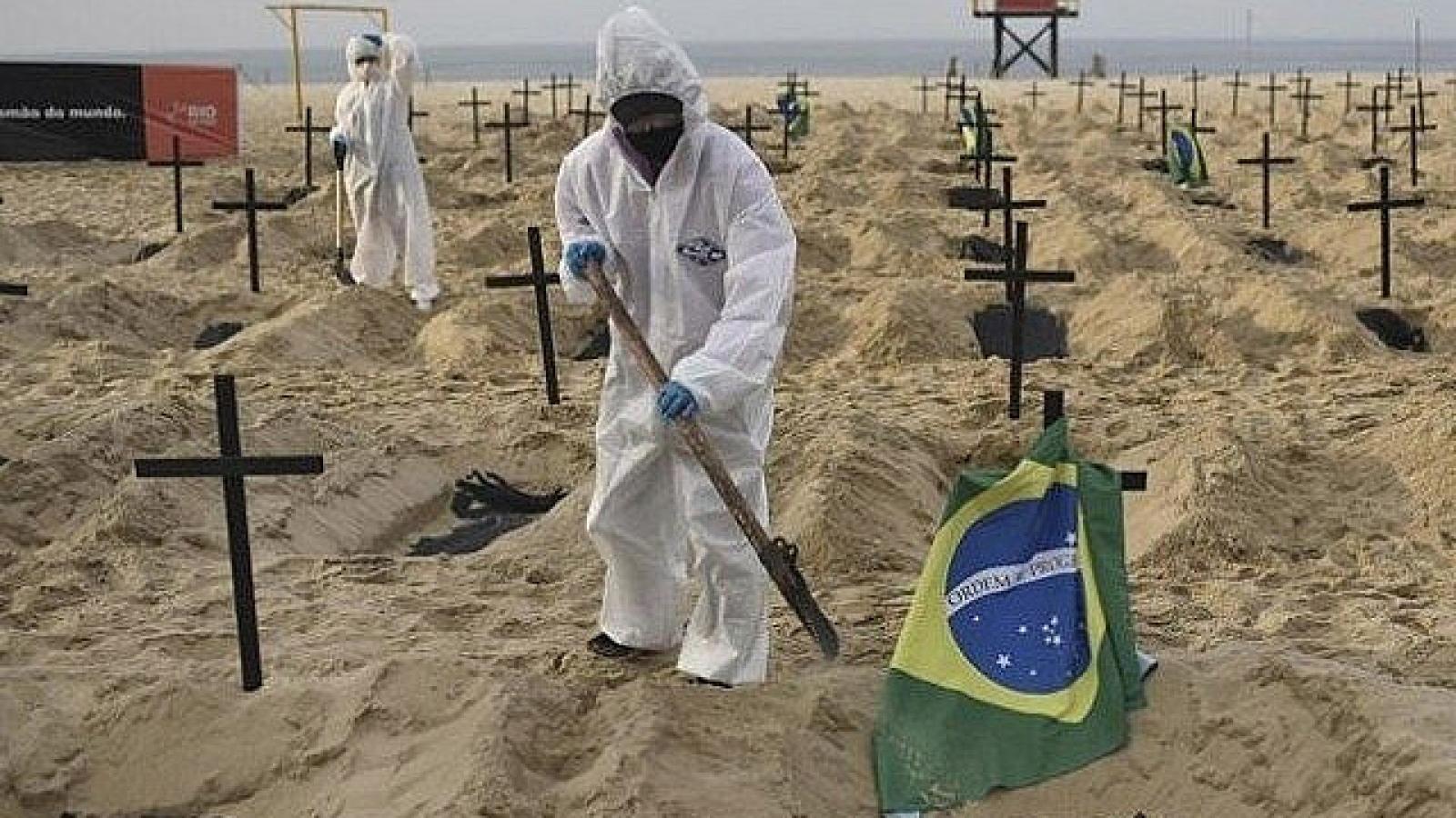 Số ca Covid-19 tại Brazil vượt 1 triệu, gần 50.000 người tử vong