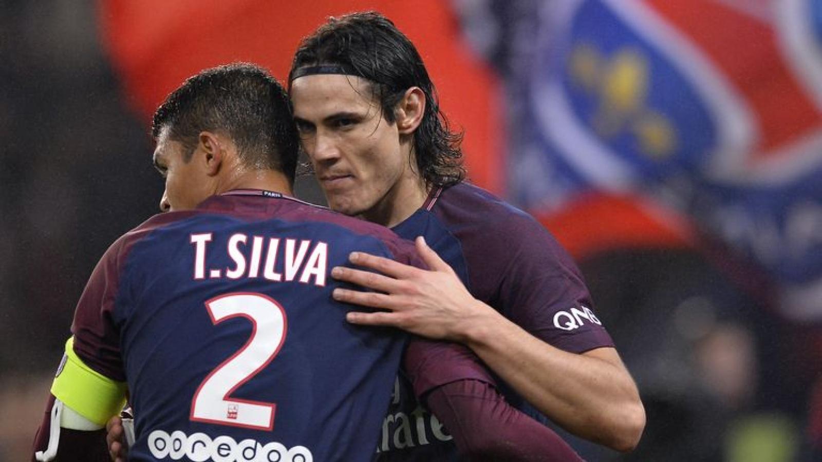 Edison Cavani và Thiago Silva sẽ rời PSG theo dạng chuyển nhượng tự do