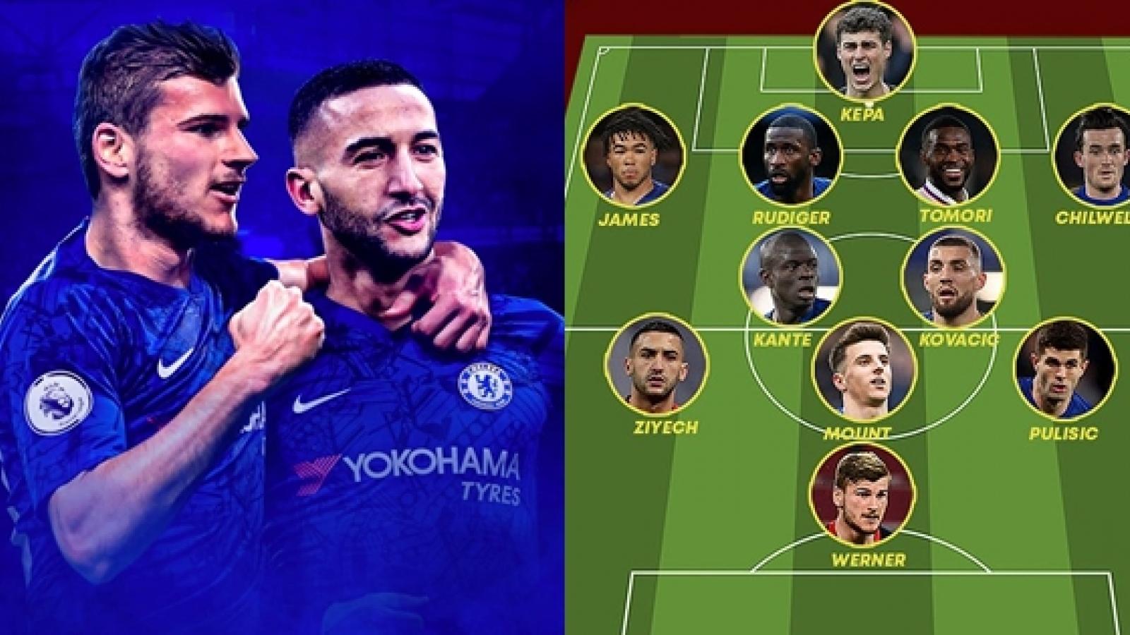 """Đội hình đẹp như mơ của Chelsea khi có """"sát thủ"""" Timo Werner"""