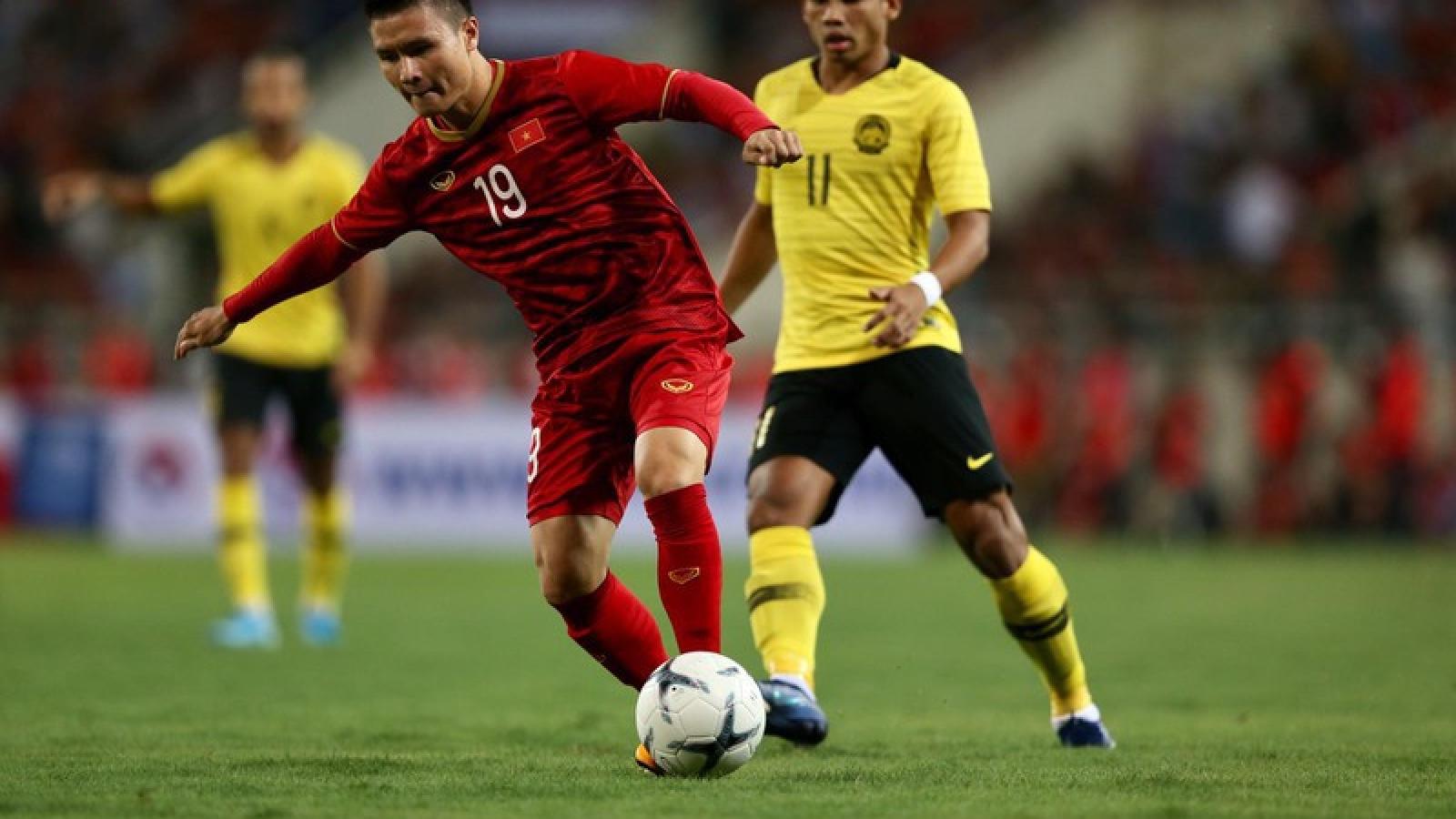 ĐT Việt Nam hơn Malaysia 60 bậc trên BXH FIFA