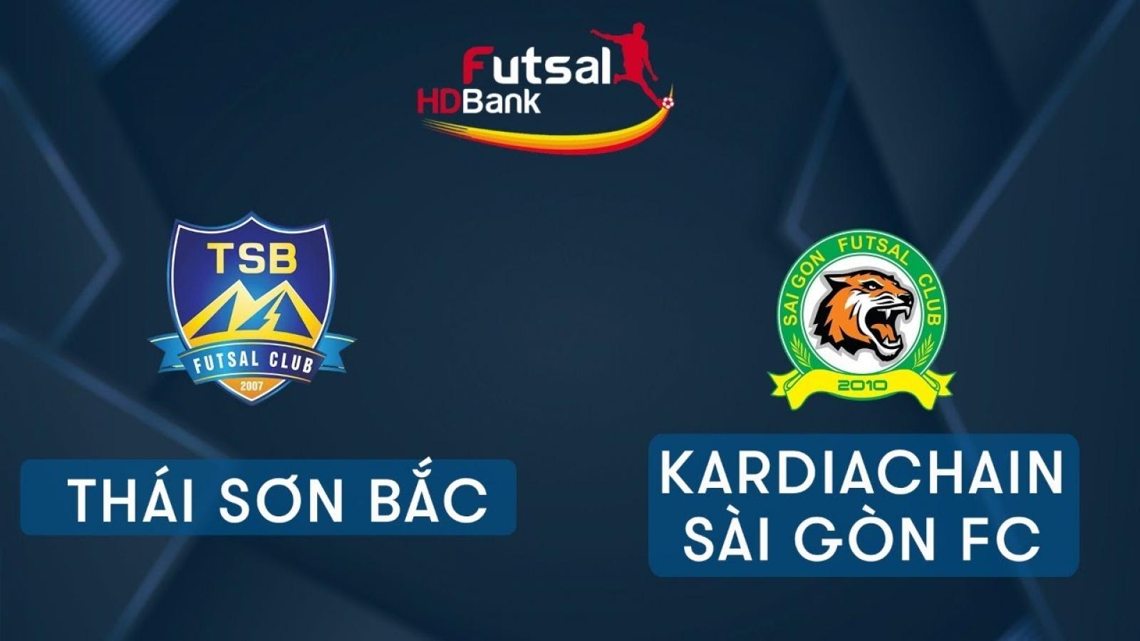 Xem trực tiếp Futsal HDBank VĐQG 2020: Thái Sơn Bắc - Kardiachain Sài Gòn