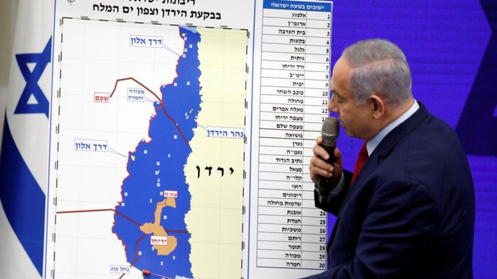 Kế hoạch Israel sáp nhập Bờ Tây không bao gồm thung lũng Jordan