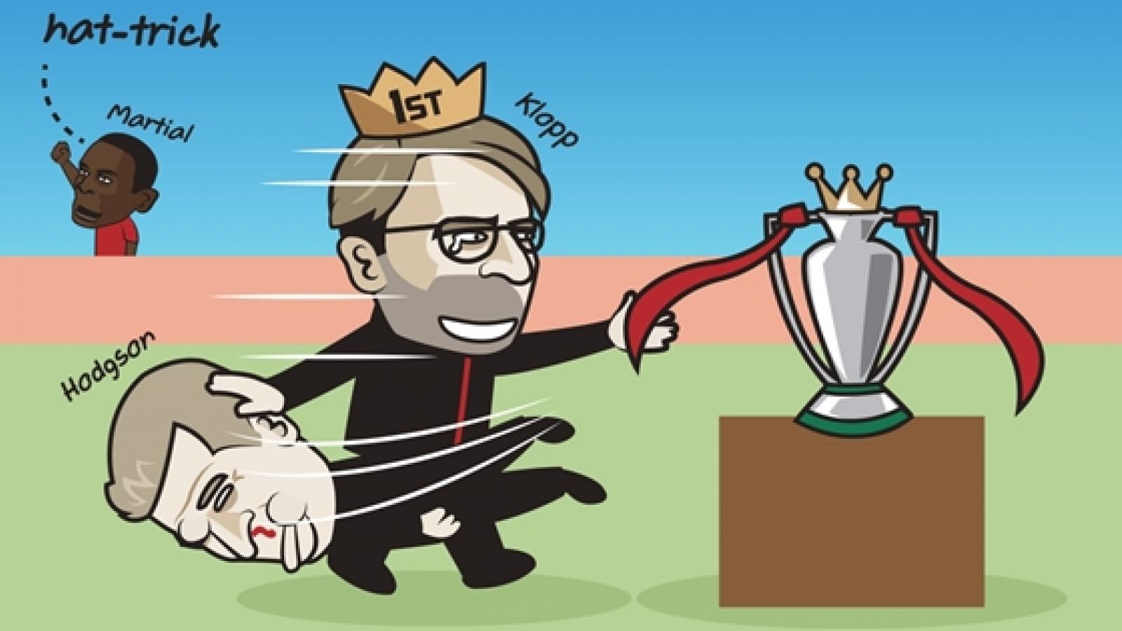 """Biếm họa 24h: Liverpool """"đau đầu"""" nghĩ kịch bản vô địch Premier League"""