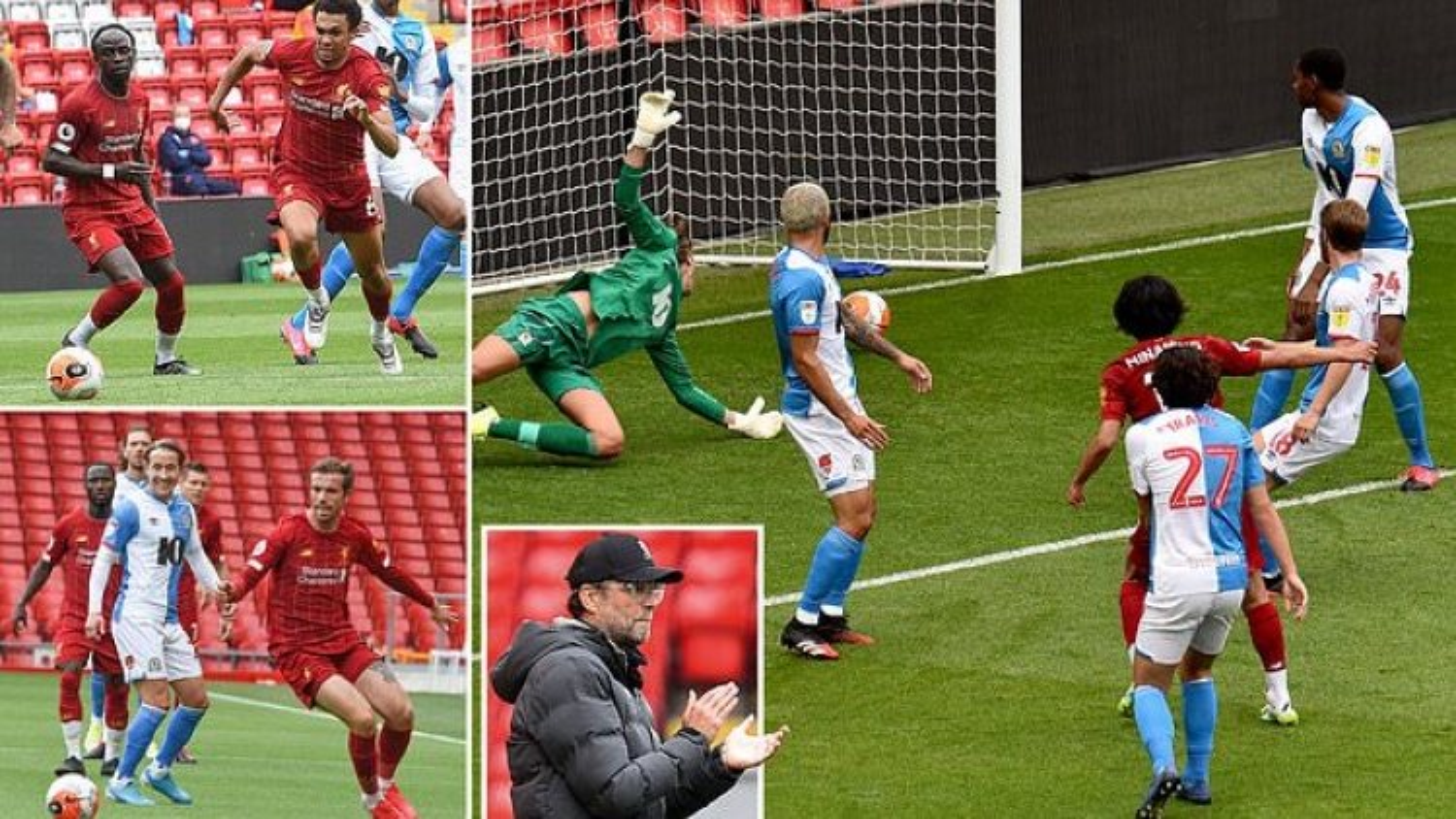 Minamino ghi bàn, Liverpool đại thắng trước khi Premier League trở lại