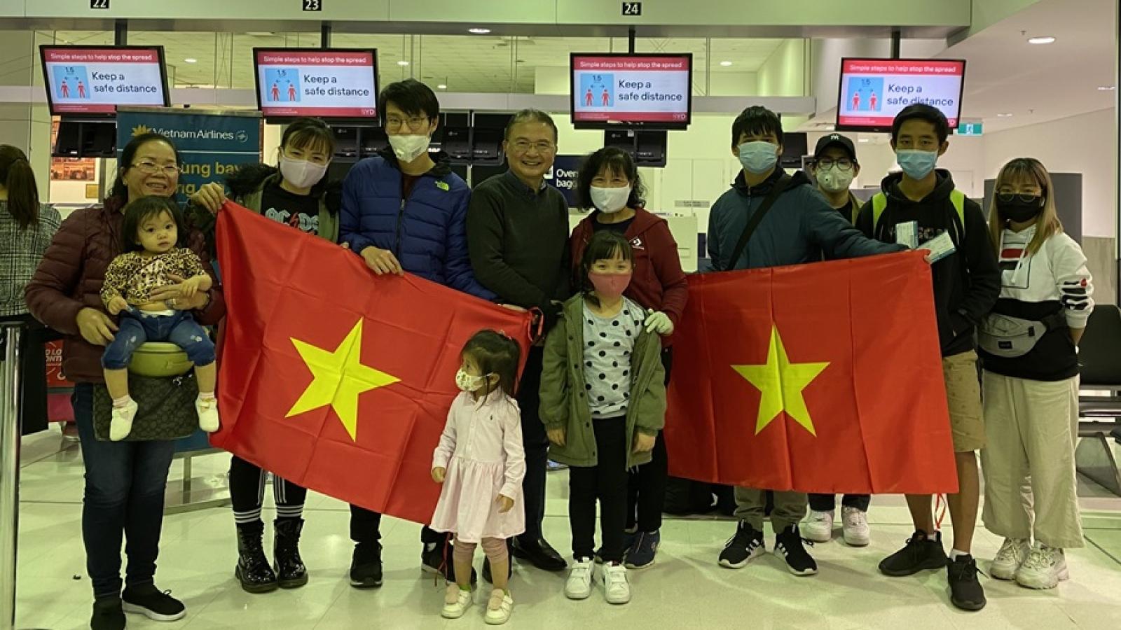 343 công dân Việt Nam từ Australia, New Zealand sẽ hồi hương ngày 3/7