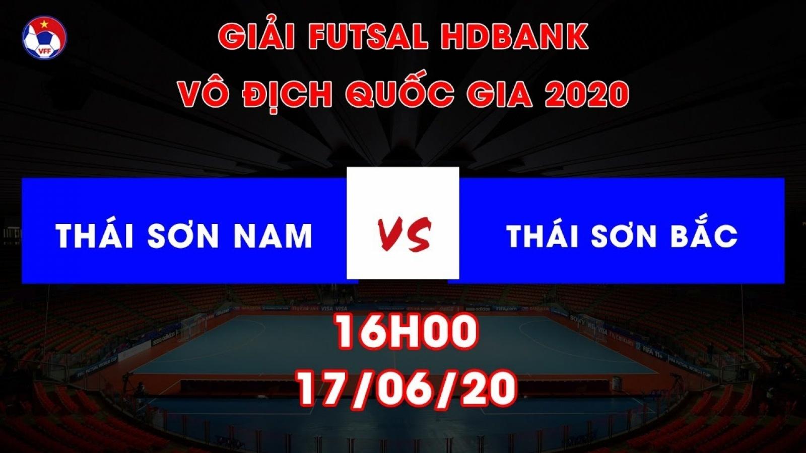 Xem trực tiếp Thái Sơn Nam vs Thái Sơn Bắc Giải Futsal HDBank VĐQG 2020