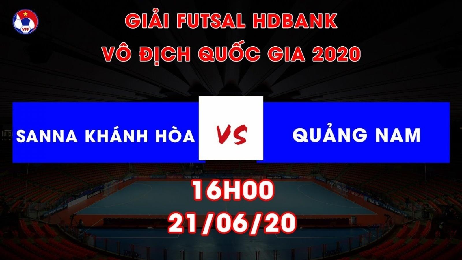 Xem trực tiếp Sanna Khánh Hòa - Quảng Nam Giải Futsal HDBank VĐQG 2020