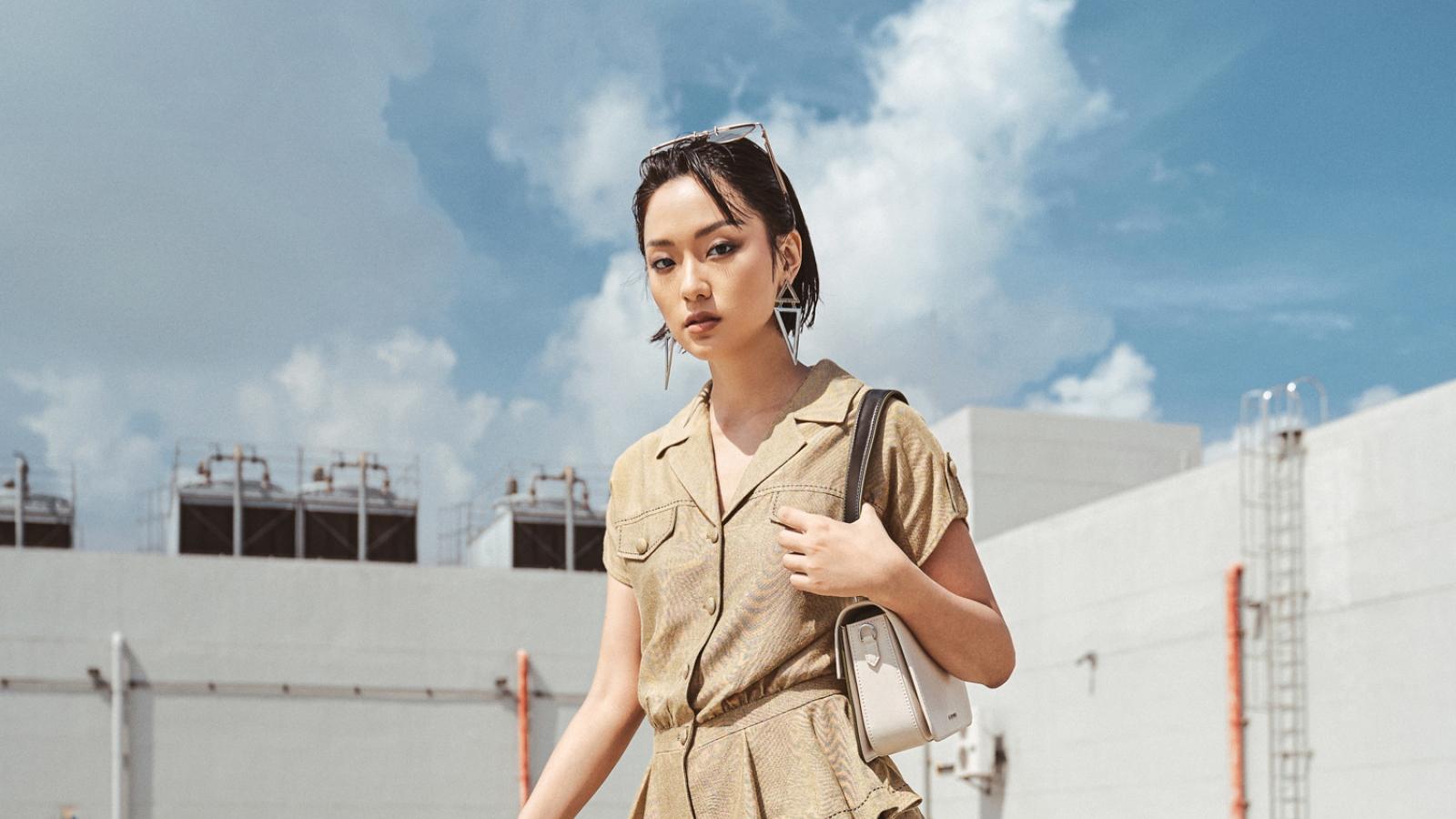 Nữ chính MV Sơn Tùng sành điệu trong trang phục lụa tơ tằm