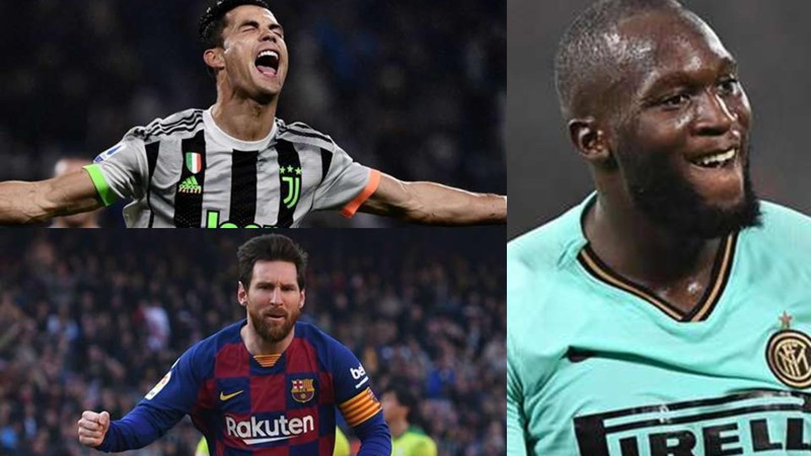 Cuộc đua Chiếc giày Vàng châu Âu 19/20: Ronaldo bỏ xa Messi