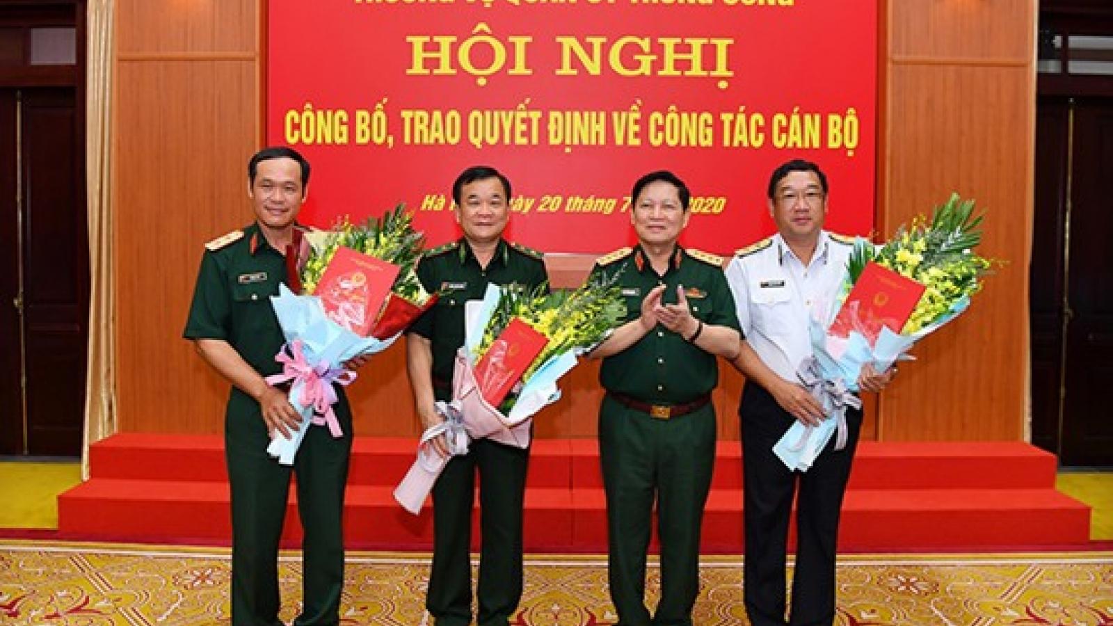 Công bố quyết định của Thủ tướng bổ nhiệm 3 Thứ trưởng Bộ Quốc phòng