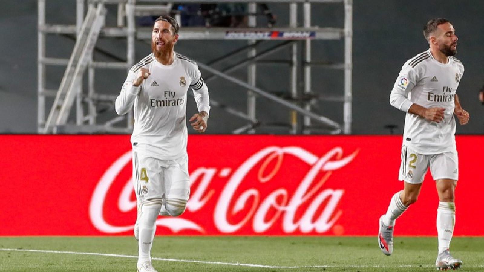Ramos bắn hạ Getafe, Real Madrid thẳng tiến đến ngôi vô địch La Liga