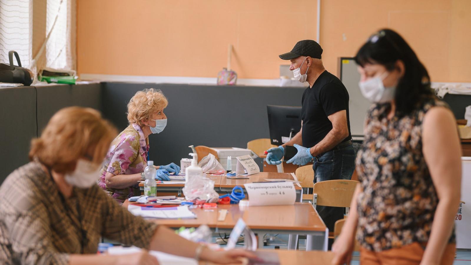 Hơn 78% cử tri tán thành sửa đổi Hiến pháp Nga