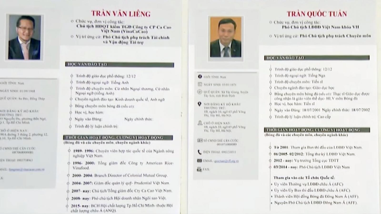 Những tiêu chí để trở thành Phó Chủ tịch phụ trách tài chính của VFF