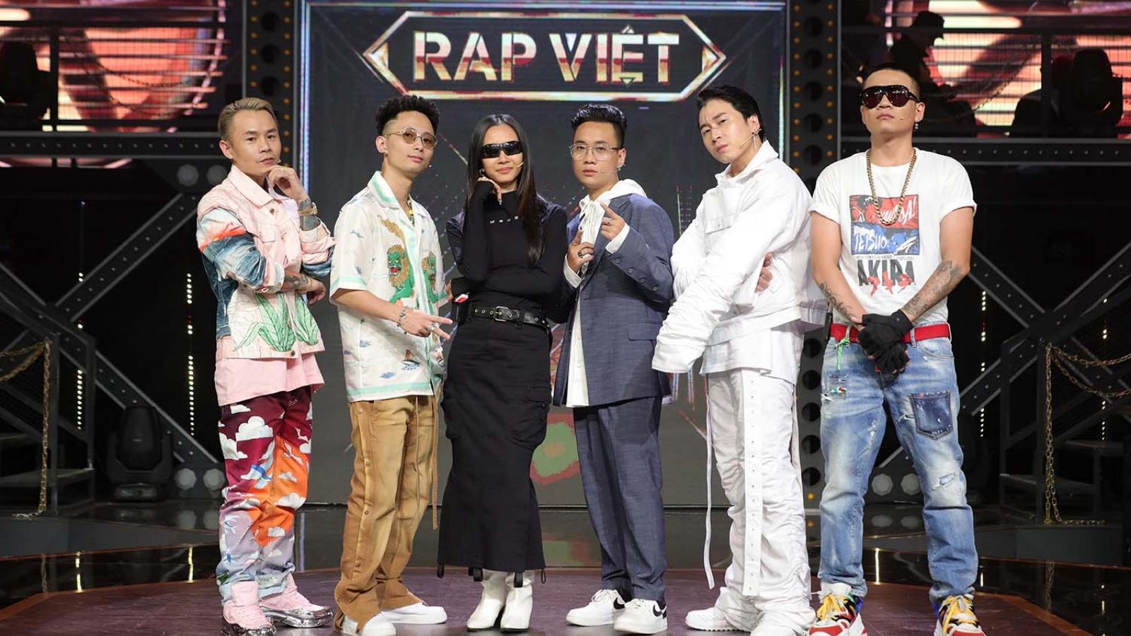 """Justatee, Binz, Suboi choáng ngợp trước dàn thí sinh """"Rap Việt"""""""