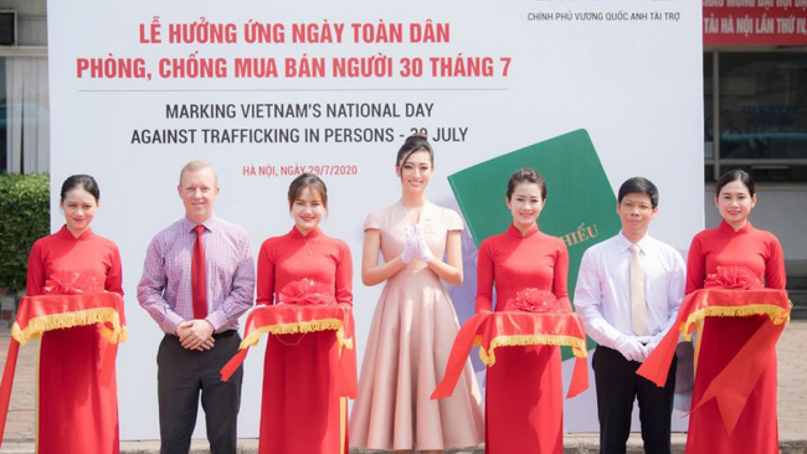 Miss World Vietnam joins UK Embassy to launch anti-human trafficking campaign