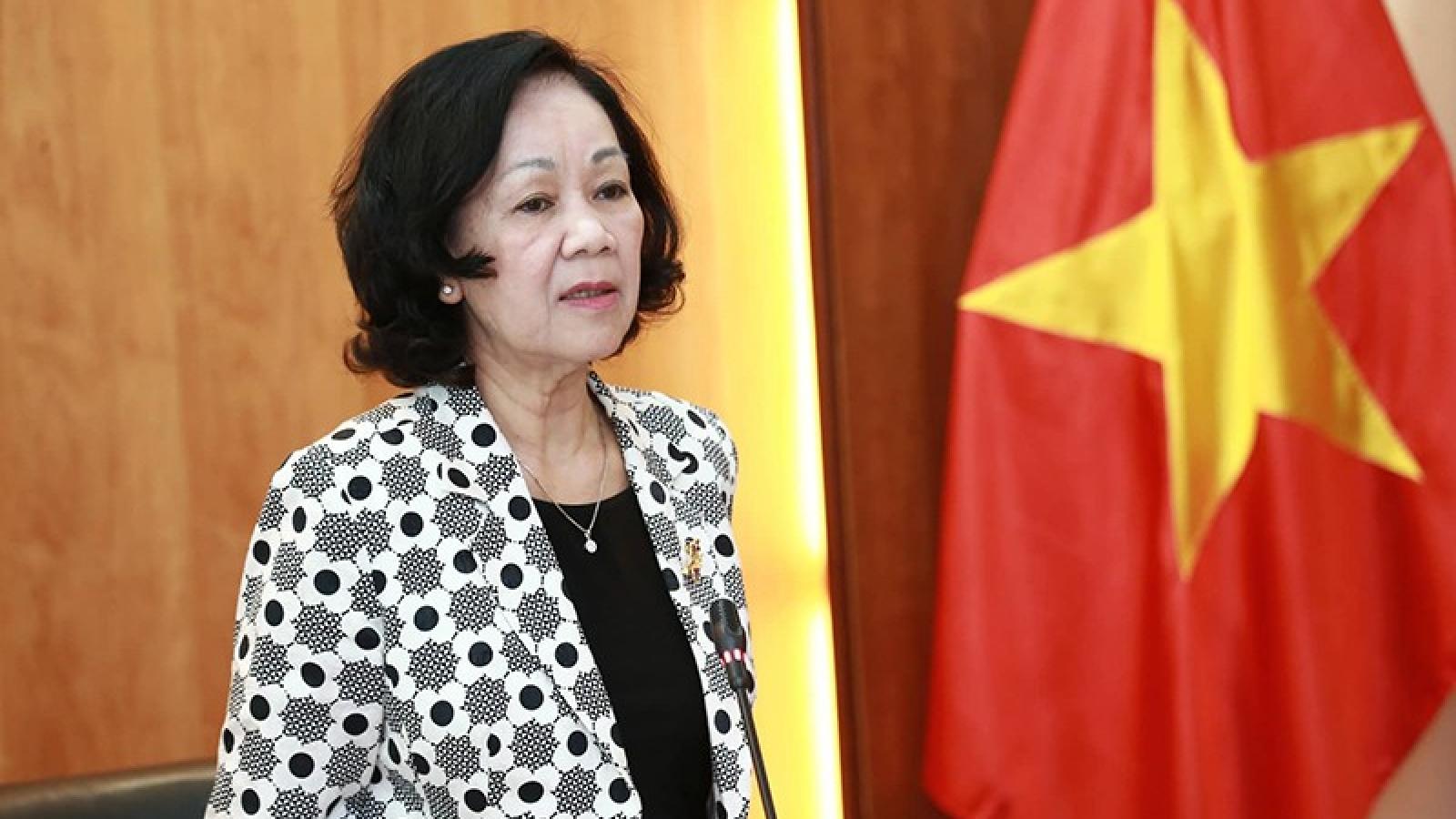 Bà Trương Thị Mai làm việc về Quy chế dân vận của Hệ thống chính trị