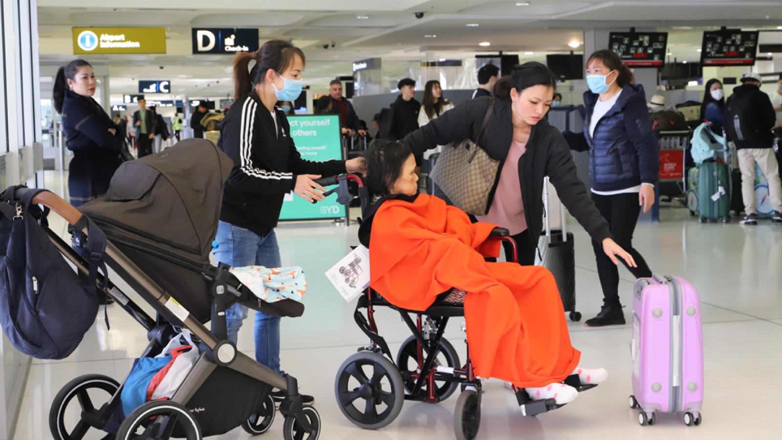 Thông báo về chuyến bay từ Australia về Việt Nam ngày 13/7