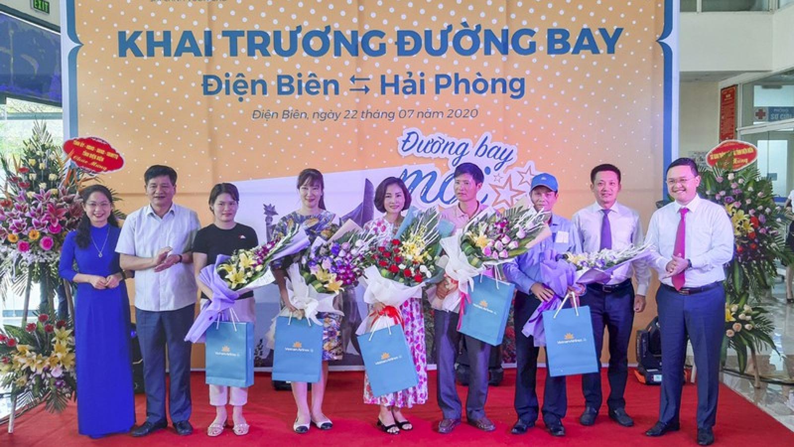 Khai trương đường bay mới Điện Biên - Hải Phòng