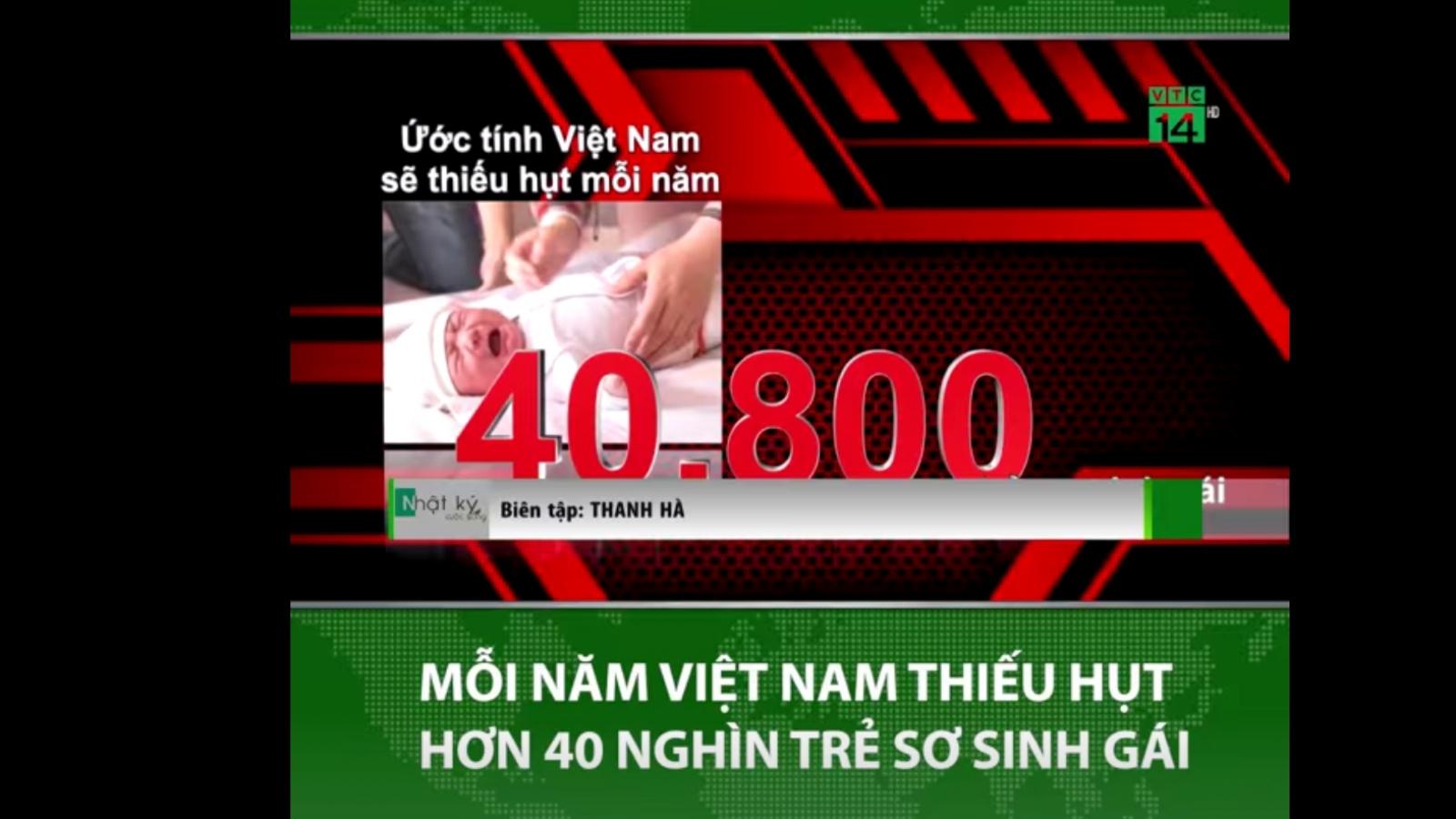 Việt Nam sẽ thiếu hụt hơn 40.000 trẻ sơ sinh gái mỗi năm