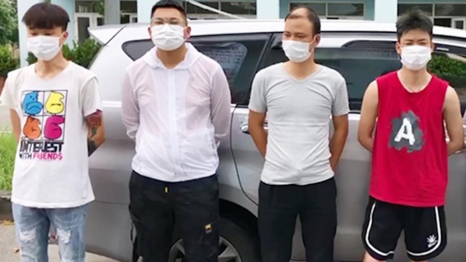Bắt 5 người Trung Quốc nhập cảnh trái phép ở cao tốc Nội Bài - Lào Cai