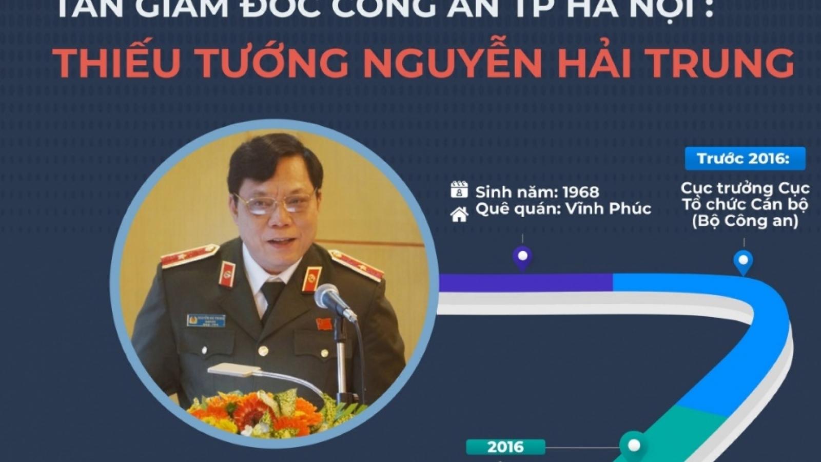 Infographics: Chân dung tân Giám đốc Công an TP Hà Nội Nguyễn Hải Trung