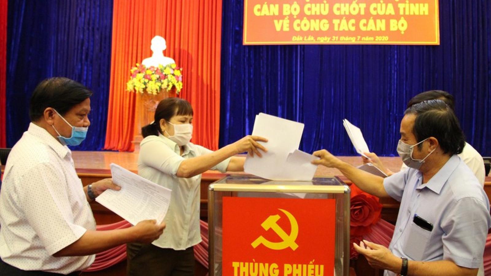 Đăk Lăk tổ chức các hội nghị xem xét cán bộ tái cử nhiệm kỳ mới