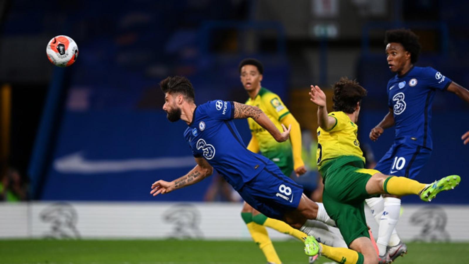 Thắng sát nút Norwich, Chelsea tạm thời bỏ xa MU