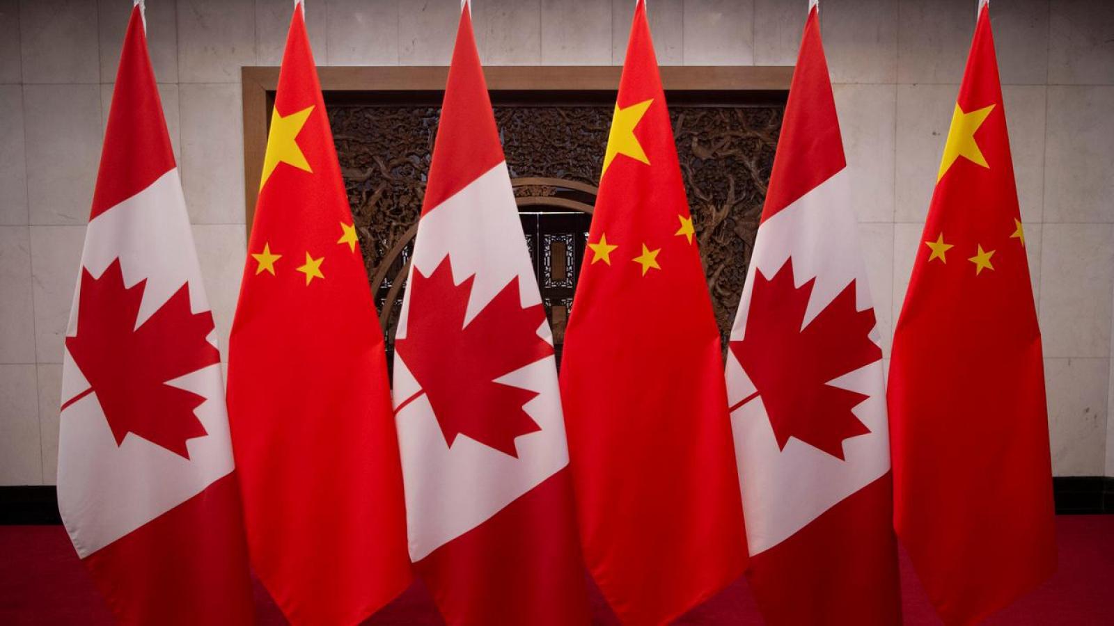 """Quan hệ Canada - Trung Quốc """"lún sâu"""" vào căng thẳng mới"""