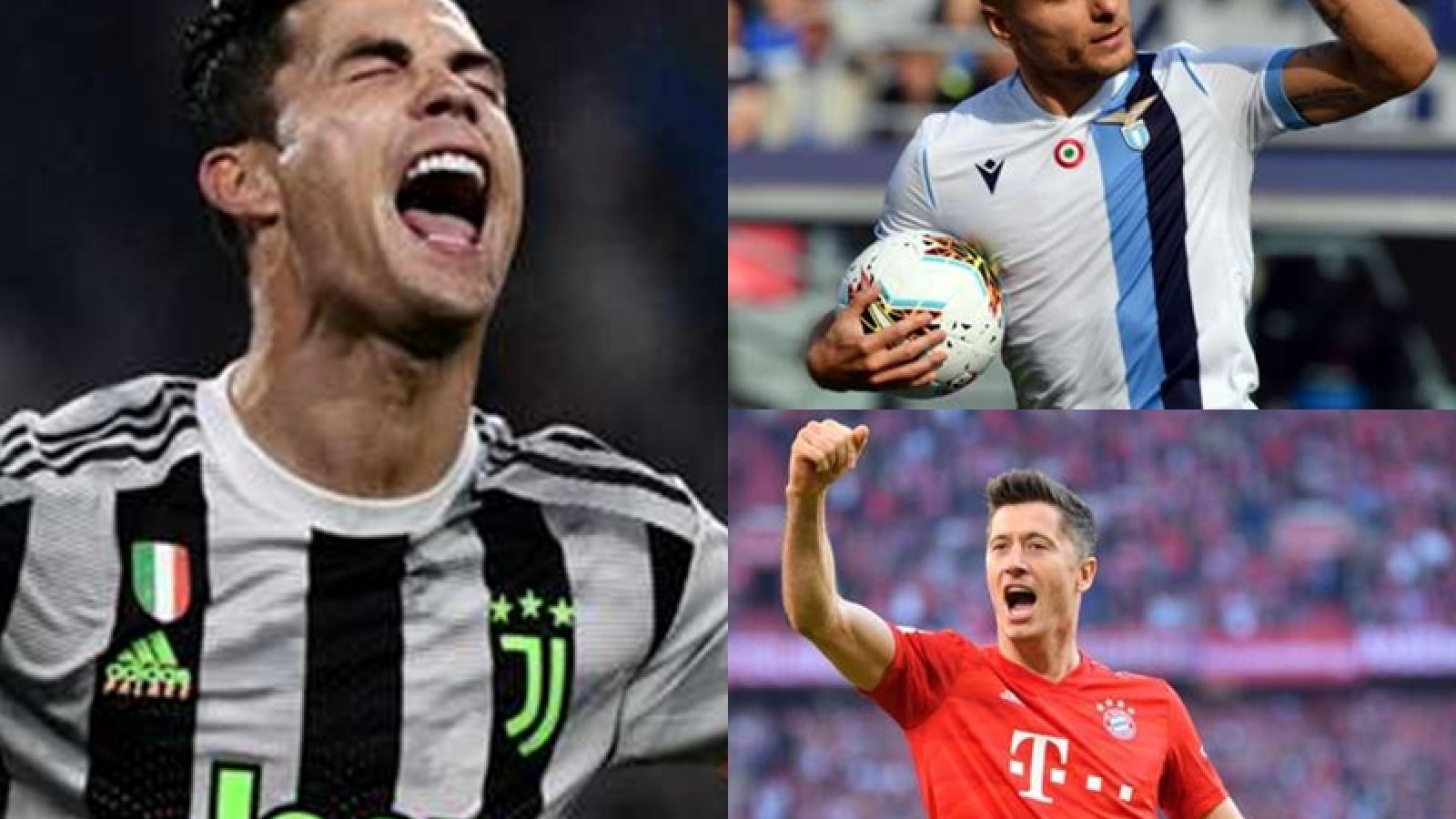 """""""Chiếc giày Vàng châu Âu"""" 2019/2020: Ronaldo thất thế so với Immobile"""