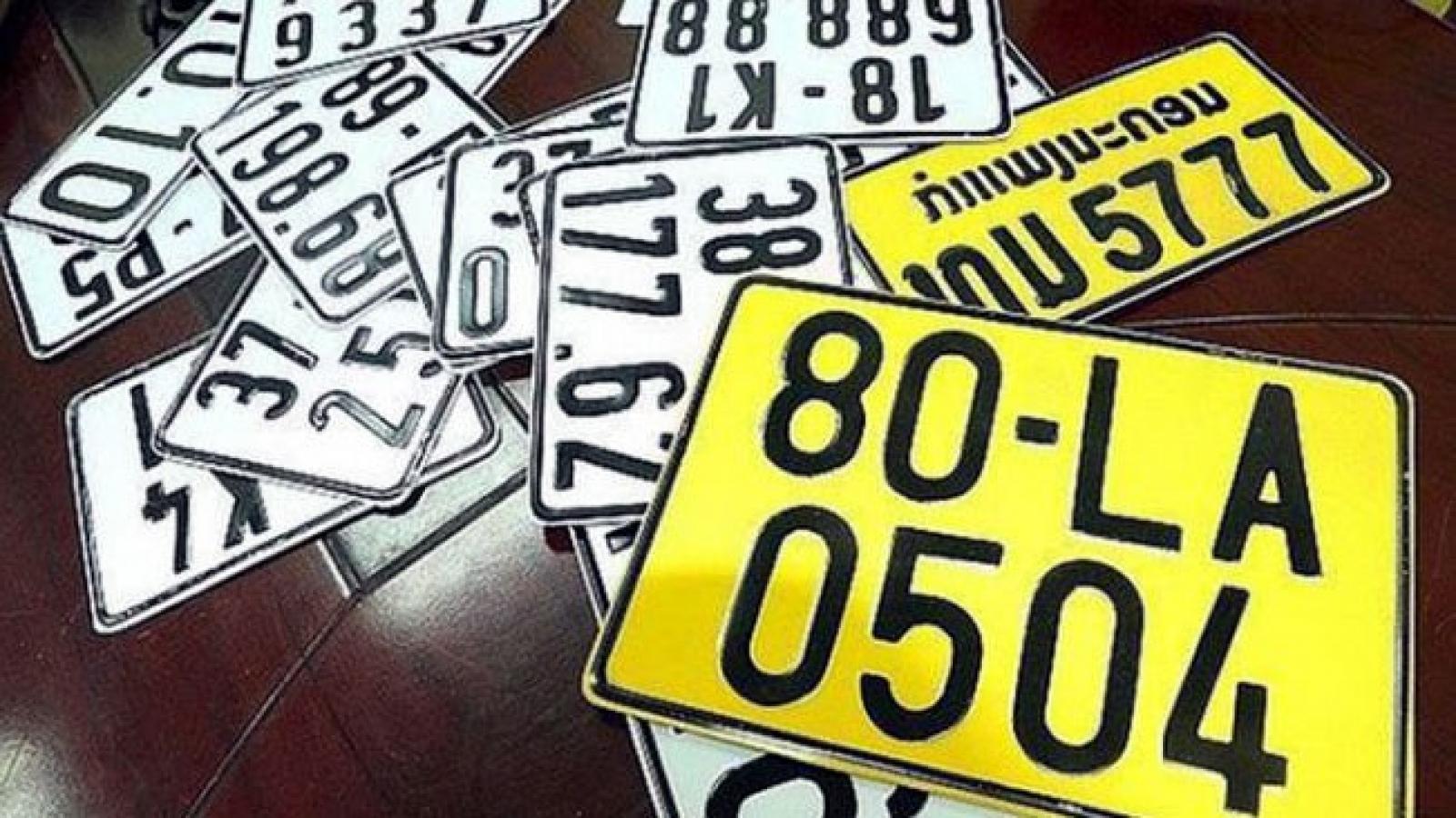 Kiến nghị giảm 50% phí đổi biển số màu vàng