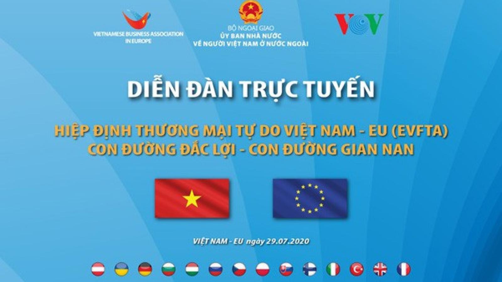 """VOV đồng tổ chức Diễn đàn trực tuyến """"EVFTA: Con đường đắc lợi, con đường gian nan"""""""