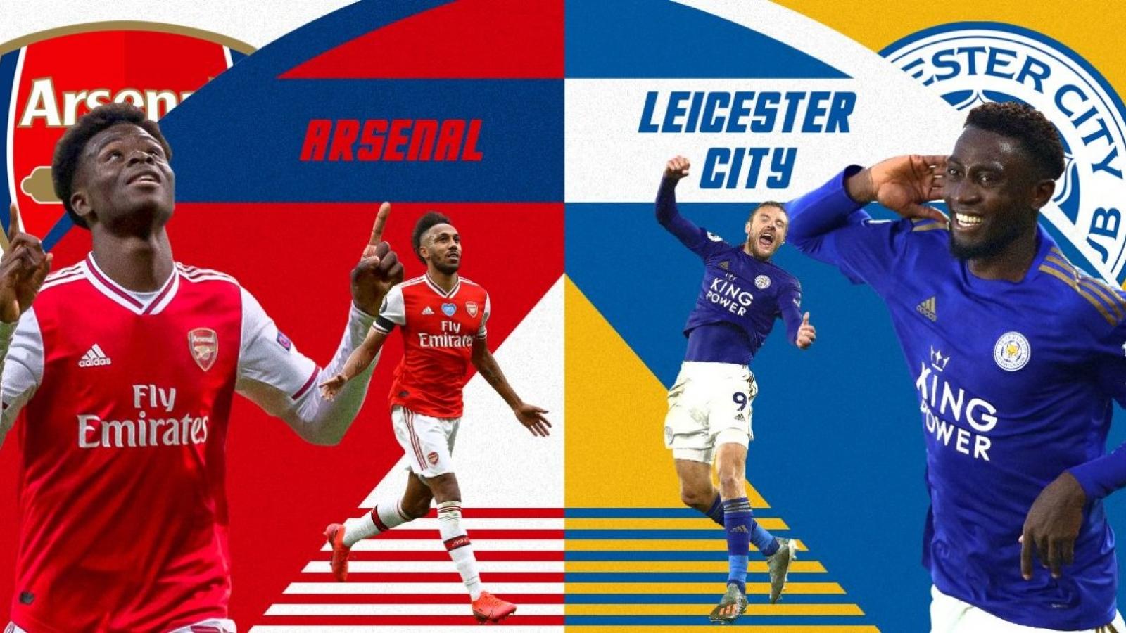 Đội hình dự kiến Arsenal - Leicester: Aubameyang đối đầu Jamie Vardy