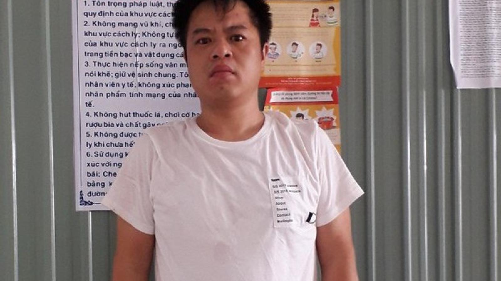Tiếp tục bắt giữ 1 người Trung Quốc vượt biên trái phép