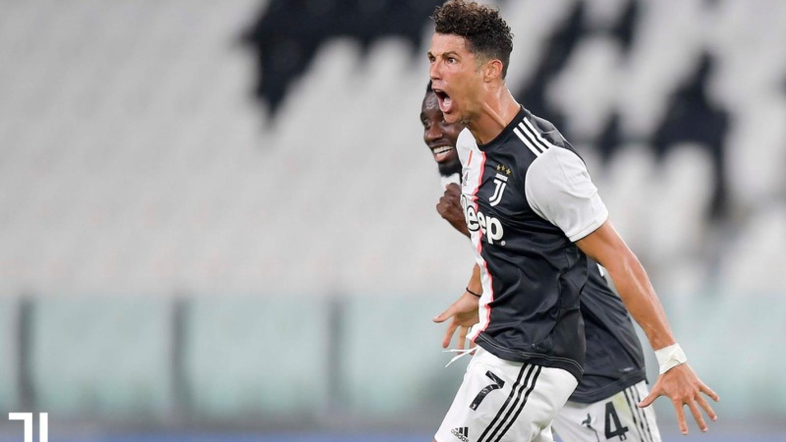 Ronaldo đá hỏng phạt đền, Juventus vẫn vô địch sớm Serie A