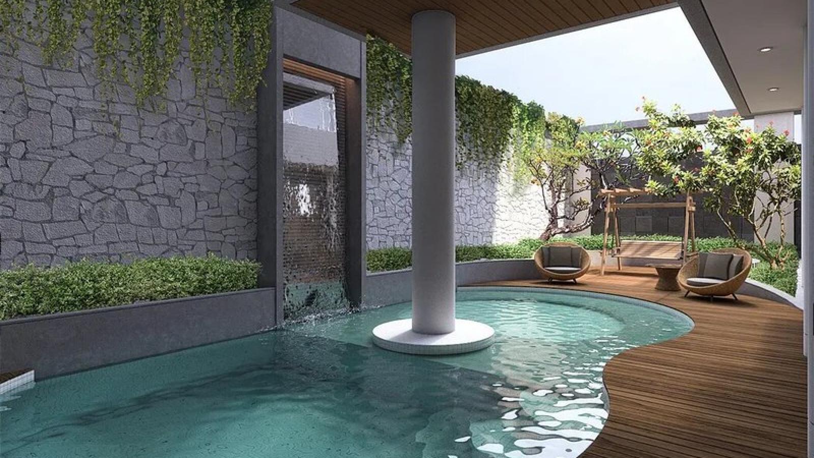 Ngôi nhà sở hữu hồ bơi ngoài trời tiện nghi