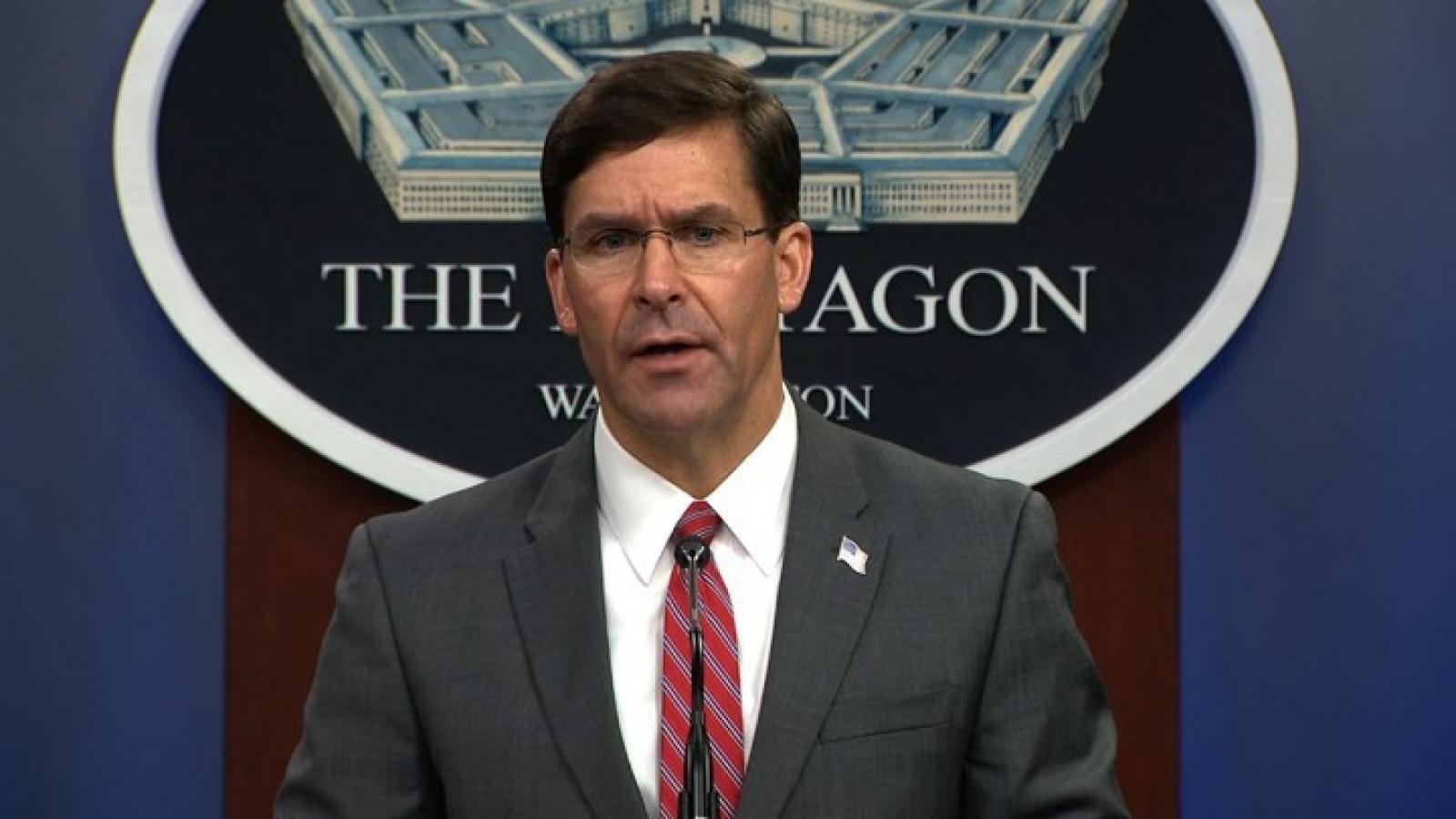 Bộ trưởng Quốc phòng Mỹ để ngỏ khả năng thăm Trung Quốc