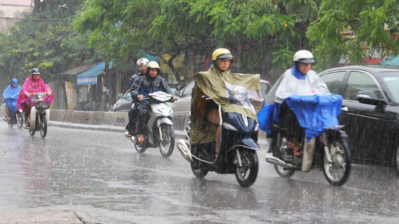 Dự báo thời tiết hôm nay: Các tỉnh vùng núi Bắc Bộ chiều tối có mưa rào