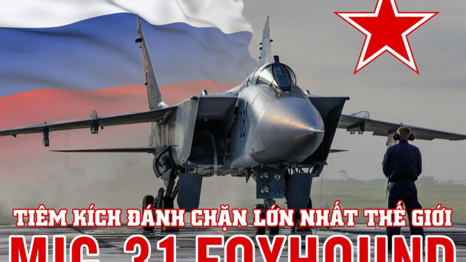 Infographic: MiG-31 - Tiêm kích đánh chặn lớn nhất thế giới của Nga