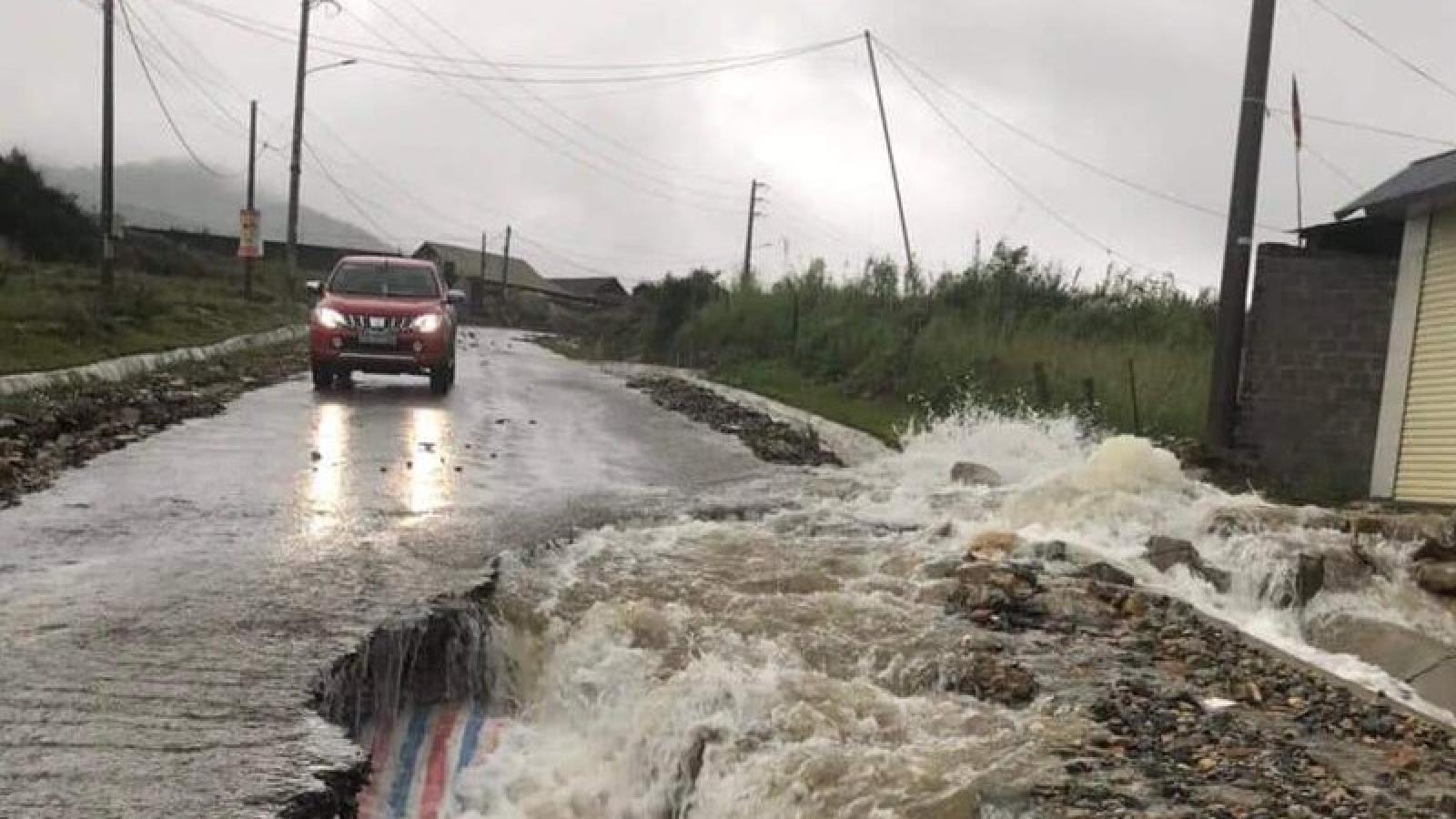 Lai Châu mưa to trên diện rộng, nguy cơ lũ quét, sạt lở đất ở nhiều nơi